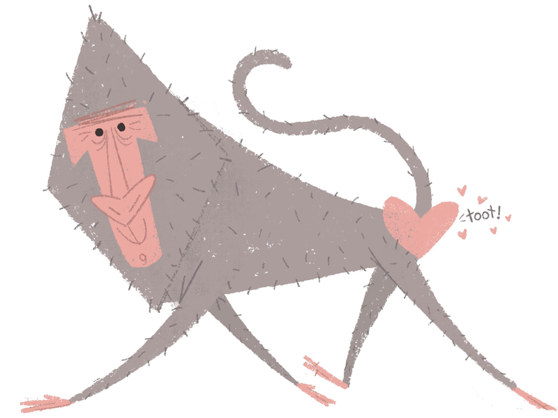 ❤️toot❤️ toot story kidlit kidlitart childrens book art monkey valentine valentines day book illustration childrens book illustration