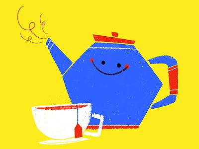 Tea Time 🍵 kidlitart kidlit character design children cute editorial spot illustration tea story book illustration picture book kids childrens book illustration