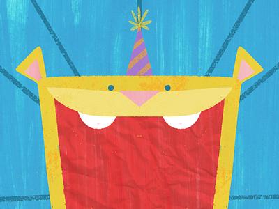 Big Birthday Cake Bite 🦁 book illustration picture book childrens book children kids cute lion birthday card birthday greeting card illustration