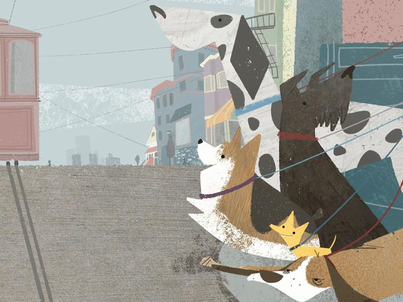 Foggy Walking Crew california picture book book illustration childrens book illustrator dogs san francisco illustration