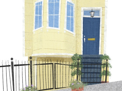 The Yellow House with the Blue Door