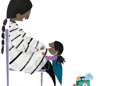 Doctor Check-Up cute texture toys parenting picture book illustration book illustration childrens book kidlitart