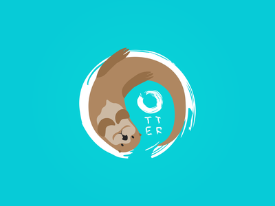 Otter logo illustration vector