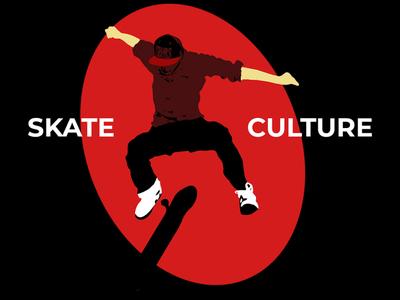 Skate Culture typography minimal typogaphy graphic logo illustration flatdesign design photoshop apparel design branding apparel mockup