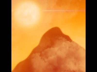 Golden Skies procreate digitalart palette challenge concept art