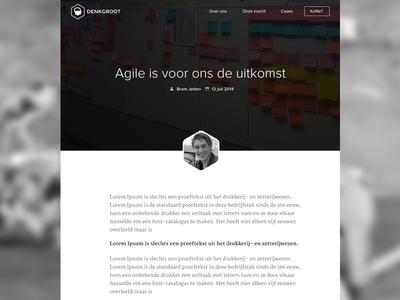 Blog section on website blog company website