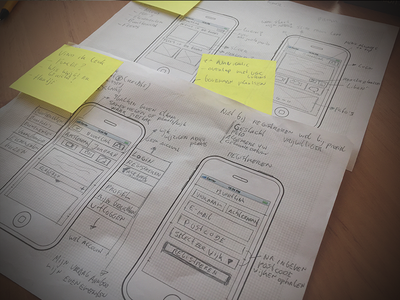 Paper Prototyping Mobile paper prototyping mockup mobile wireframe denkgroot