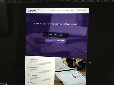 Spina Cms cms landing page ruby gem spina design