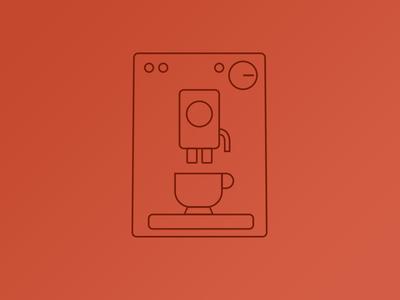 Coffeemachine icon vector machine coffee icon