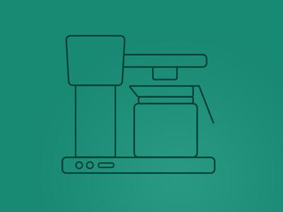 Filtermachine Icon - Boonesta outlines icondesign vector filtermachine coffee icon