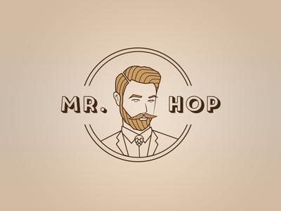 Logo - Mr. Hop brand vector logotype illustrator identity branding illustration drinks logo beer