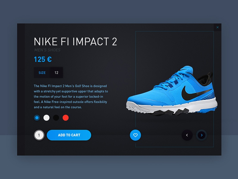 Day 28 - Product Card shoes page e-commerce cart shop card product ux ui