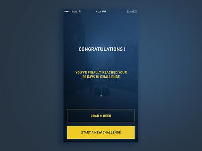 Day 30 - Congrats UI