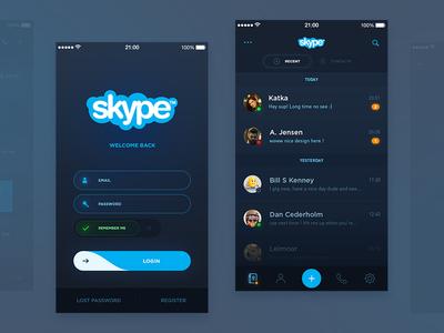 Skype Redesign (WIP)