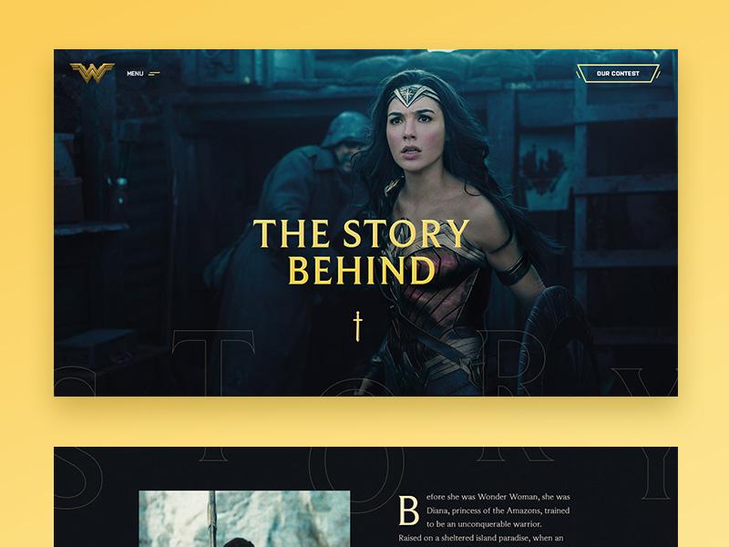 Wonder Woman concept #1 trailer movie concept direction art ux ui
