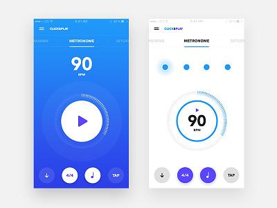 Click & Play - Metronome exploration iphone songs list set music click metronome app ux ui