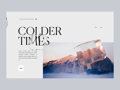 Colder times experiment refraction ice c4d 3d motion art direction visual ui  ux