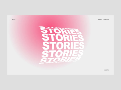 Typographic Slider design gradient animation ux motion interface web kinetic slider typography