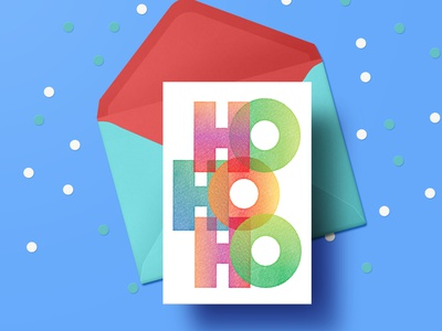Seasonal Greeting Card typography colorful vector graphic christmas card