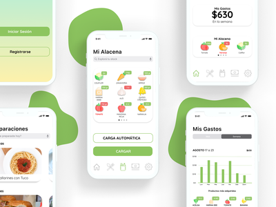 Alacenapp - UX/UI Design ui design ux design design typography minimal mobile ios app design user interface ui ux app