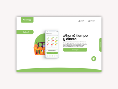 Alacenapp / Web Design ui design minimal illustration web design interface uixui ui ux