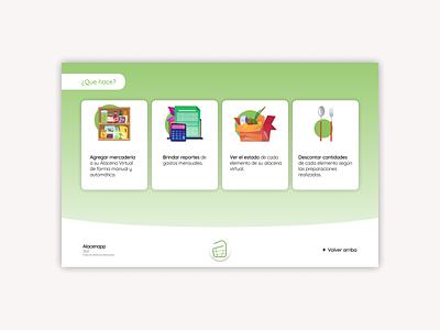 Alacenapp / Web Design ux ui uxui interface web design illustration minimal ui design