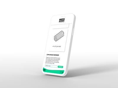 Green Bomber / Web Design minimal interface green bomber responsive mobile web design web ui design ux design design uxui ui ux