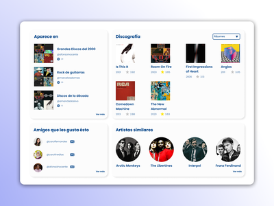 Rate Your Music / Web Redesign design mobile rate your music the strokes website uxui web responsive ux design web design minimal interface ui design ui ux