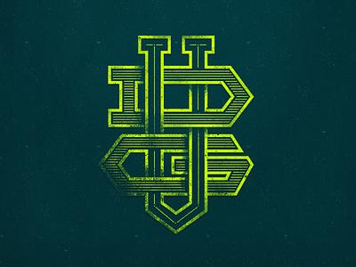 VDG monogram grunge logo emblem