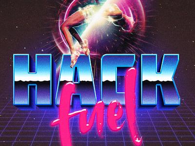 Hack Fuel –Spotify Album Art neon 1980s signalnoise retro 80s playlist album cover album art spotify