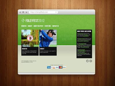 foleyfest2012 store website ecommerce shopify golf logo