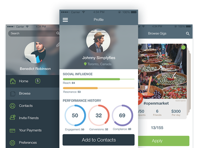 Event Tracking App ui ux ios interface mobile flat minimal animation gif app appdesign icon