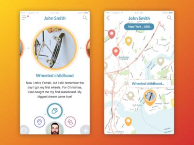 Emotional App app design mobile design ios tubik ukraine product design interface design interface ux ui