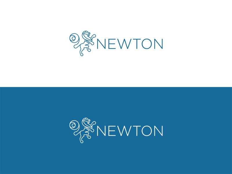 Design Logo - Newton logo design typogaphy symbol mark logotype idenity branding logo