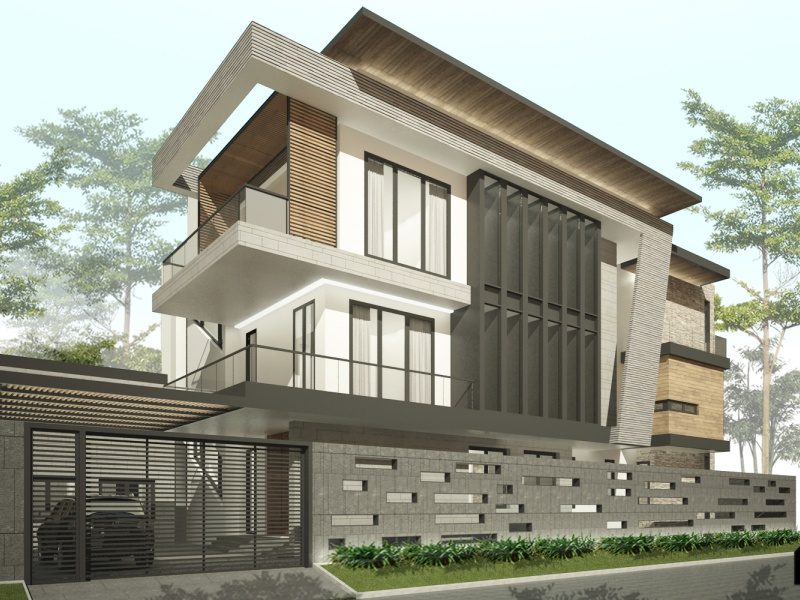 H House Project In India facade design minimalism modern tropical architecture