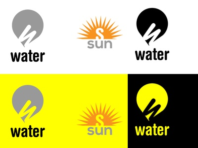 sun water logo icon vector logo. best logo. signature logo logo design font logo design bd logo graphics design company logo logo
