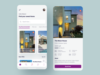 House rent apps popular design uidesign ui ux graphicdesign iphone motion interaction dribbble best shot