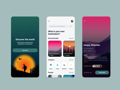 Travels Apps mobile design popular mobile app design uidesign interaction motion iphone graphicdesign dribbble best shot