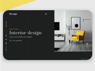 Interior design company ui interiordesign header webdesign design
