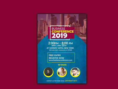 Business Conference Flyer Design dl flyer template design poster presentation minimal branding business conference illustration corporate flyer a4 flyer conference ui design flat marketing professional design logo catalog business