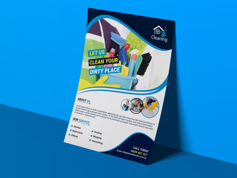 Cleaning Service Flyer Design Template presentation poster creative abstract modern flyer washing flyer cleaning flyer business booklet corporate flyer a4 flyer branding marketing logo