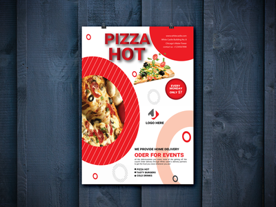 Restaurant Flyer Design product design print design animation logo catalog responsive design attrective design modern corporate brochure illustration a4 flyer restaurant pizza resume branding design professional design marketing business