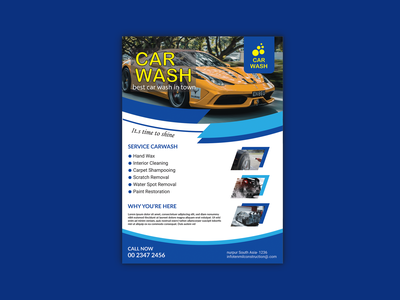 Car Wash/ Fresh Flyer Design car service car repair car cleaning creative flat design flyer design car wash cleaning clear dl flyer logo presentation design corporate flyer catalog a4 flyer branding marketing business