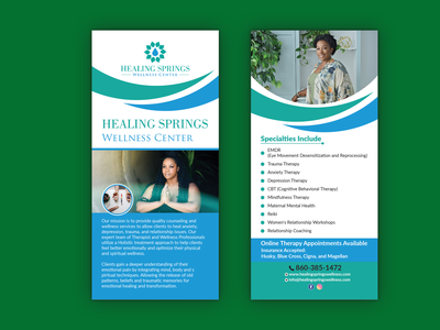 Rack Card / DL Flyer Design social marketing banner brochure design health service healthcare therapy restaurant rack card illustration dl flyer branding presentation design professional design flyer logo marketing business