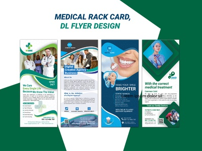 Medical rack card / DL flyer Design product flyer medicare design rack card design hospital flyer treatment minimal medical flyer medical care medical brochure presentation vector dl flyer corporate flyer logo branding marketing business