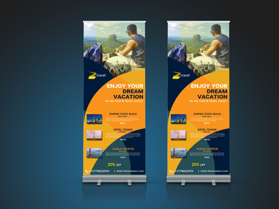 Travel Rollup banner Design traveling banner service banner design banner ad social media design travel travel agency travel banner dl flyer booklet presentation brochure design catalog flyer marketing branding business