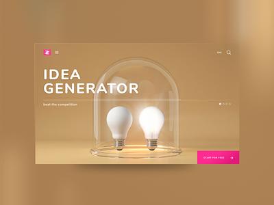 Emergency Idea Generator generator idea web ux ui logo illustration site online design color branding app 3d