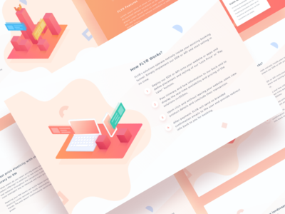 Flyr Landing Page device flight ui web flat illustrations website app isometric