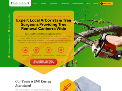 Dowling Tree Removal Services Canberra ux ui modern design custom html5 website clean branding response website design