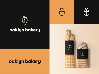 oaklyn bakery - Identity bakery store logo logo king package wheat logos logo mark logo gradient logo maker logo creator logo inspiration logo concept logotype logo design bakery logo design bakery logo bakery logo